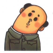 Bald Head Man Uniform Headturn
