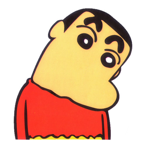 Crayon Shin Chan Head Turned