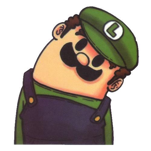 Luigi Nintendo Head Turn
