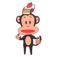 Standing Monkey with Cakes