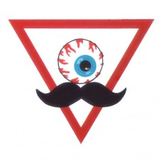 Abstract Moustache Bloody Eyeball