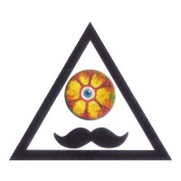 Abstract Moustache Colored Eyeball