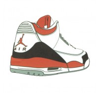 Nike Air Jordan Shoe Sticker