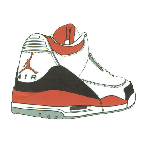 Nike Air Jordan Shoe Sticker