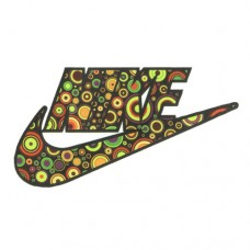 Colored Circles Nike Logo