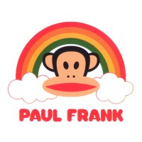 Paul Frank Head with Rainbow and Text