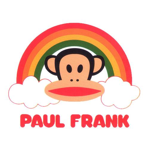 Paul Frank Head with Rainbow and Text