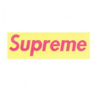 Supreme Pink Logo with Light Yellow Background