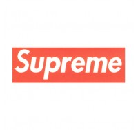 Supreme White Logo on Red Background