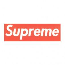 Supreme White Logo on Red Background
