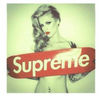 Supreme with Naked Tattoo Lady