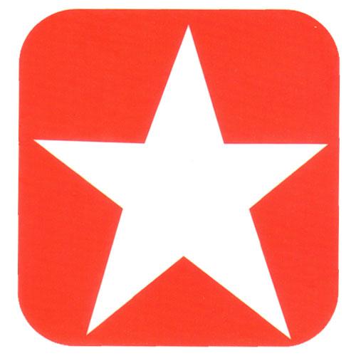 White Star on Red Background Logo